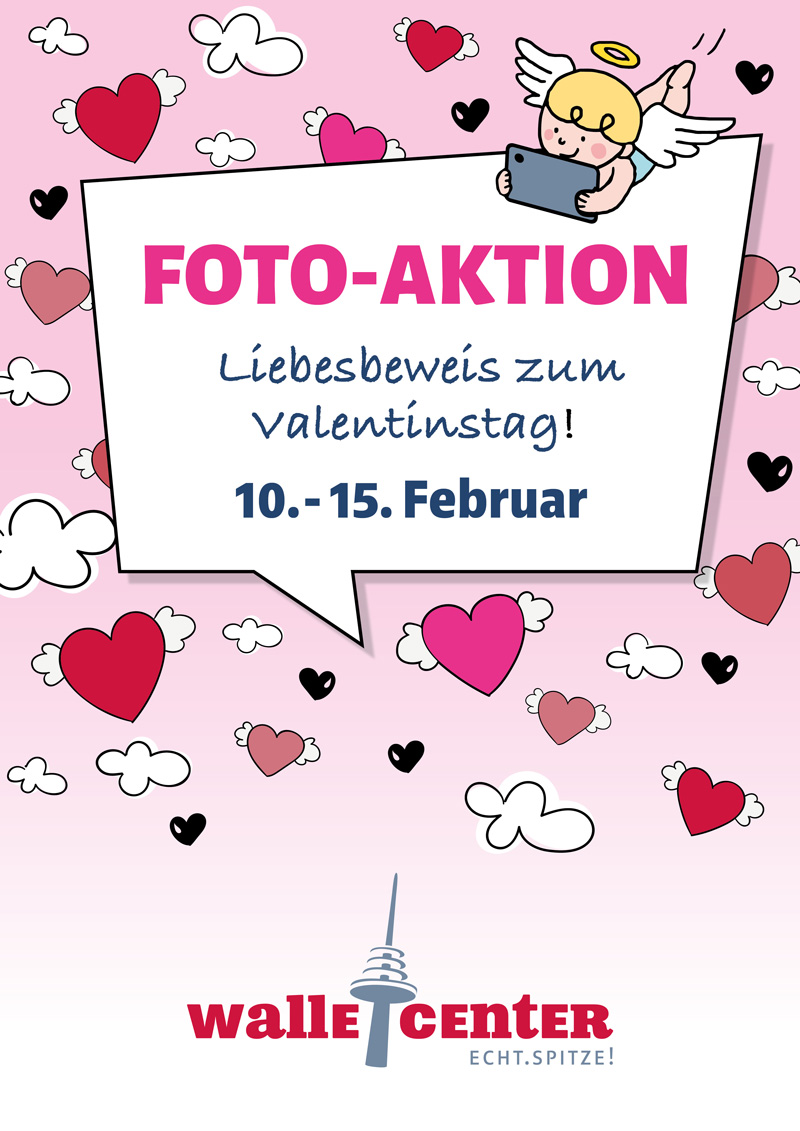 Plakat Fotoaktion Valentinstag Walle-Center